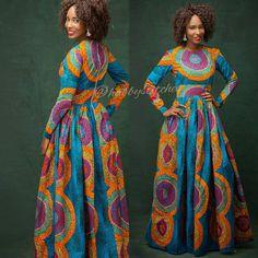 Sandra Maxi robe avec poches robe africaine africaine de