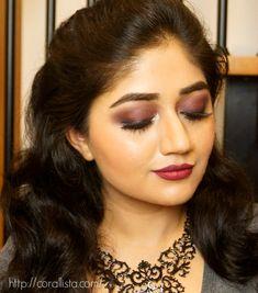 Vampy Burgundy Makeup - Smoky Eyes with Dark Lips