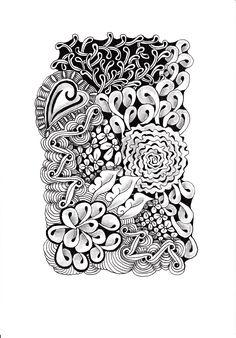 Renates Zentangle 24.10.2018 Zentangles, Pyrography, Printing, Tattoos, Art, Art Background, Tatuajes, Zentangle, Tattoo
