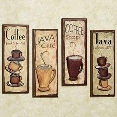 Cuadros en madera de Café...