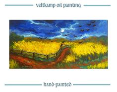 no shipping costs  landscape wheatfield by VeltkampOilPainting