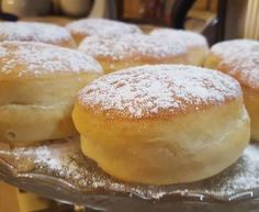 Bomboloni ripieni al forno col Bimby Biscotti, Bomboloni, Hamburger, Food And Drink, Bread, Desserts, Dolce, 3, Kitchen