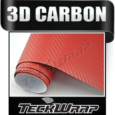Kırmızı Hava Kanallı Karbon Folyo 152 Cm X 100 Cm