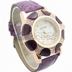 Elegant purple watch