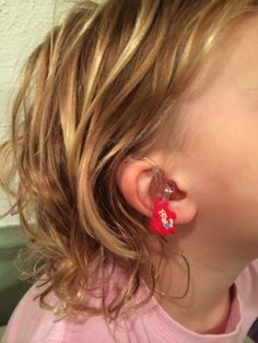"""Hearing aid accessories. Loom bracelet charms can be used as """"hearings"""" to decorate hearing aids. My daughter loves hers."""