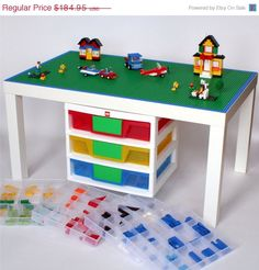 Large Lego Table   22 X 35 Lego Surface With Lego Storage. (DIY Instead
