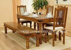 Solid Wood metal Dining Set Wooden Dining Table Modern, Round Dining Table Sets, Round Wood Dining Table, Dining Table Online, Solid Wood Dining Set, Dining Table Chairs, Dining Room Furniture, Furniture Sets, Solid Wood Furniture