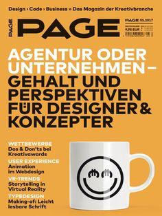 PAGE 05.2017 Cover | Agentur oder Unternehmen? +++ VR-Trends +++ Schrift für leichteres Lesen +++ Animation im UX Design +++ Awards: Dos & Don'ts http://shop.page-online.de/catalog/product/view/id/9134?utm_source=page_pinterest&utm_medium=socialmedia&utm_campaign=PEPA1705_page_052017&utm_content=Heft-052017