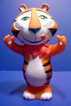 "1970's Tony The Tiger Vinyl Toy from ""KELLOGGS"" their Grrrreaaat"