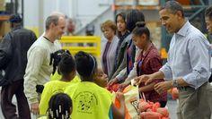 Ringraziamento, famiglia Obama pensa ai poveri