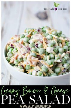 Creamy Pea Salad recipe with red onions, bacon, and plenty of cheese ; a summer favorite! Creamy Pea Salad recipe with red onions, bacon, and plenty of cheese ; a summer favorite! Healthy Cooking, Cooking Recipes, Healthy Recipes, Lentil Recipes, Cooking Ideas, 21 Day Fix, Cold Pea Salad, Soup And Salad, Pasta Salad