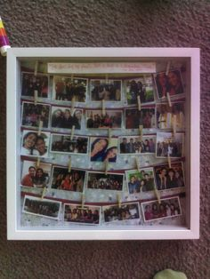 Made my best friend a shadow box as a present for her going off to USC. Full of her memories the past 4 years.