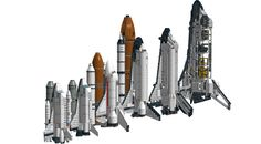 https://flic.kr/p/GAFRvh   A LEGO Space Shuttle Size Comparison   As follows:  1682 Space Shuttle (Small) 6339 Shuttle Launch Pad (Small) 60080 Spaceport (Medium) 10231 Shuttle Expedition/10213 Shuttle Adventure (Large) 7470 Space Shuttle Discovery (Large) 8480 FOS Light Space Shuttle (Extra Large)  Which size do you prefer the most?