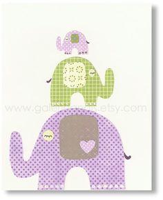 elephant family artwork