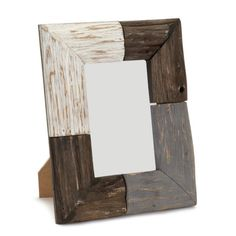 Pack of 4 Brown, Gray and White Rustic Natural Wood Picture Frames 9H