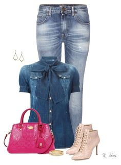 """""""Denim on Denim"""" by ksims-1 ❤ liked on Polyvore featuring True Religion, Dsquared2, Alexandre Birman, Coach, Chico's, Lucky Brand, women's clothing, women's fashion, women and female"""