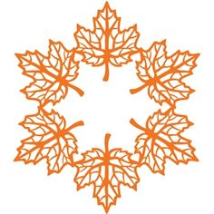 Silhouette Design Store - View Design #32209: maple leaf doily