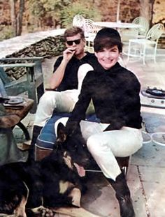 J.F. & Jackie Kennedy in the Virginia Hunt Country