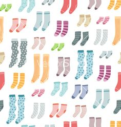 Colorful socks seamless pattern vector by stolenpencil on VectorStock®