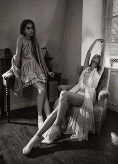 Elena Lazic And Manuela Lazic for Be Magazine february 2013 | by Christophe Rihet