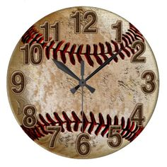 Cool Stone Look Vintage Baseball Clock for Him. Vintage Baseball Decor for Men and Boys Room. http://yoursportsgifts.com/CLICK-HERE-Vintage-Baseball-Gifts A lot more Personalized Baseball Stuff: http://yoursportsgifts.com/CLICK-HERE-Personalized-Baseball-Stuff Vintage Baseball is so popular. Guys love baseball stuff. Nice Baseball Christmas Gifts, Birthday, End of Season and more.