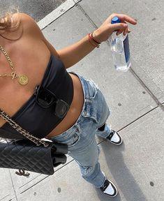 Fashion Killa, Look Fashion, Fashion Outfits, Fashion Trends, Denim Outfits, Outfit Jeans, Fashion Styles, Daily Fashion, Teen Fashion