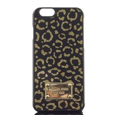 Michael Kors Glitter Leopard I Phone 6 Cover ($44) ❤ liked on Polyvore featuring accessories, tech accessories, gold, leopard print iphone case, glitter iphone case, iphone case, apple iphone cases and gold iphone case