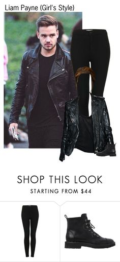 """""""Liam Payne (Girl's Style)"""" by kateremington-1 ❤ liked on Polyvore featuring Payne, Topshop and Giuseppe Zanotti"""