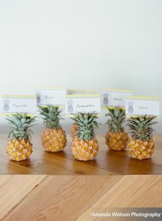 Pineapple party escort cards! - See More Lovely Pineapple Party Ideas At B. Lovely Events!