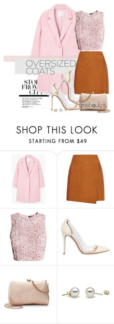 """""""over pink"""" by fash-outfit ❤ liked on Polyvore featuring MANGO, MSGM, Gianvito Rossi and LC Lauren Conrad"""