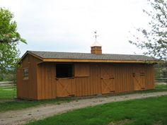 12x36 Horse Barn w/ 4' Overhang - Wood-Tex Products