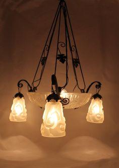 Great Degu ART DECO Lampe L ster H ngelampe Leuchter