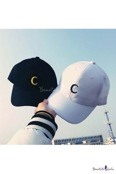 923dca43dc4 Unisex Fashionable Embroidered Moon Baseball Cap