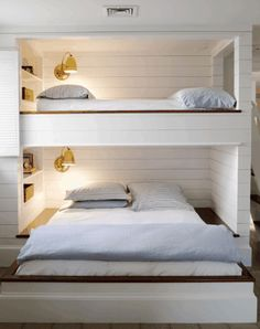 Built in Bunk Beds.  Interesting that the double is placed legnthwise with the twin overhead.