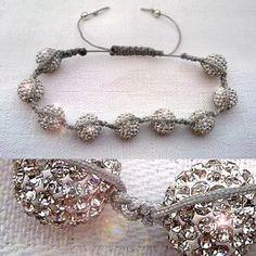 """bracelet strass """"Shamballa"""""""