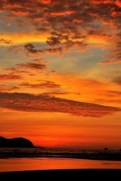 Red, Orange and Yellow Sunset