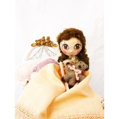 Princess and the Pea art doll, paper clay hand sculpted french doll,... (€150) ❤ liked on Polyvore featuring art doll and princess and the pea