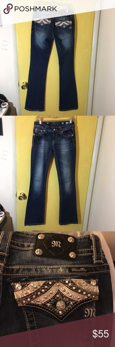 "Miss me boot cut jeans Miss me boot cut embellished jeans, Size 27- excellent condition, no rhinestones missing, inseam is 33"" Miss Me Jeans Boot Cut"