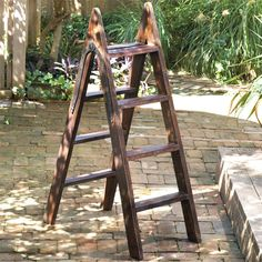 Wood Ladder w/Iron Hinge.from Global Views Old Wooden Ladders, Wood Ladder, Ladder Decor, Bliss Home And Design, Architectural Elements, Wood Construction, Luxury Furniture, Woodworking Projects, Solid Wood
