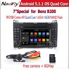 Quad Core 1024*600 2 din car DVD Android 5.1 for benz B200 W169 A160 Viano Vito GPS NAVI RADIO BT built-in wifi Free shipping