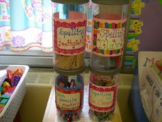 Spelling centers - love the toothpick idea! Spell words using toothpicks.