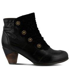 Spring Step Women's Belgard Booties (Black Leather)