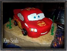 Piece of Cake Decorating | How to Carve a 3D Lightning McQueen Cake