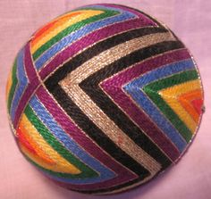 """Temari balls like this are now officially on the """"Things I Want to Learn to Make Before I Die"""" list."""