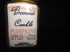HAYRIDES APPLES & PUMPKINS Natural Beeswax by YellowEpiphanies