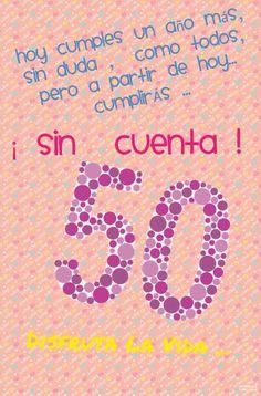 50 años Happy Birthday Posters, Happy 50th Birthday, Birthday Quotes, 50th Birthday Party, It's Your Birthday, Birthday Cards For Her, Happy Wishes, Happy B Day, Birthdays