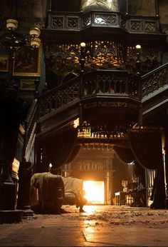 """Almost looks like the """"room"""" at the front of the house in the movie, """"Crimson Peak"""". For Victorian lovers, you should Really check out that movie! Gothic House, Victorian Gothic, Victorian Homes, Gothic Mansion, White Mansion, Gothic Lolita, Mansion Homes, Beautiful Homes, Beautiful Places"""
