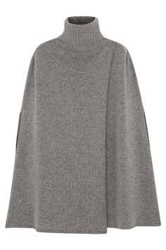 Cape cachemire gris chiné - 100% cachemire - 4 fils