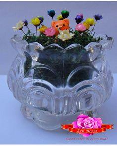 Frozen chrysanthemums with cute bear