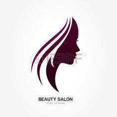 Beautiful woman's profile face with streaming hair. Vector logo design template. Abstract design concept for beauty salon, massage, cosmetic and spa, international women day.